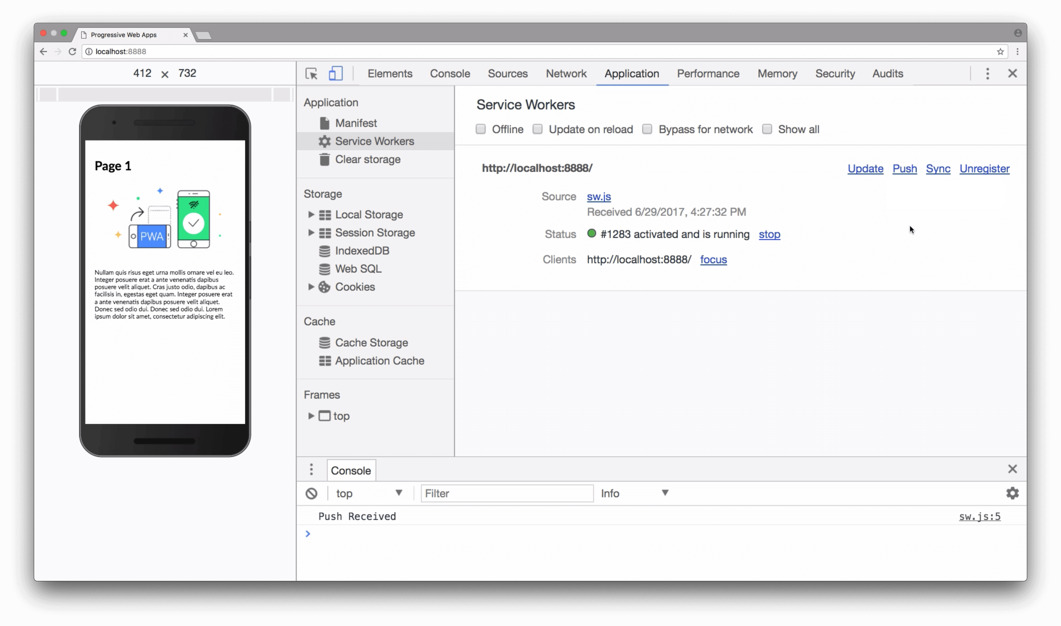 PWA project Screenshot